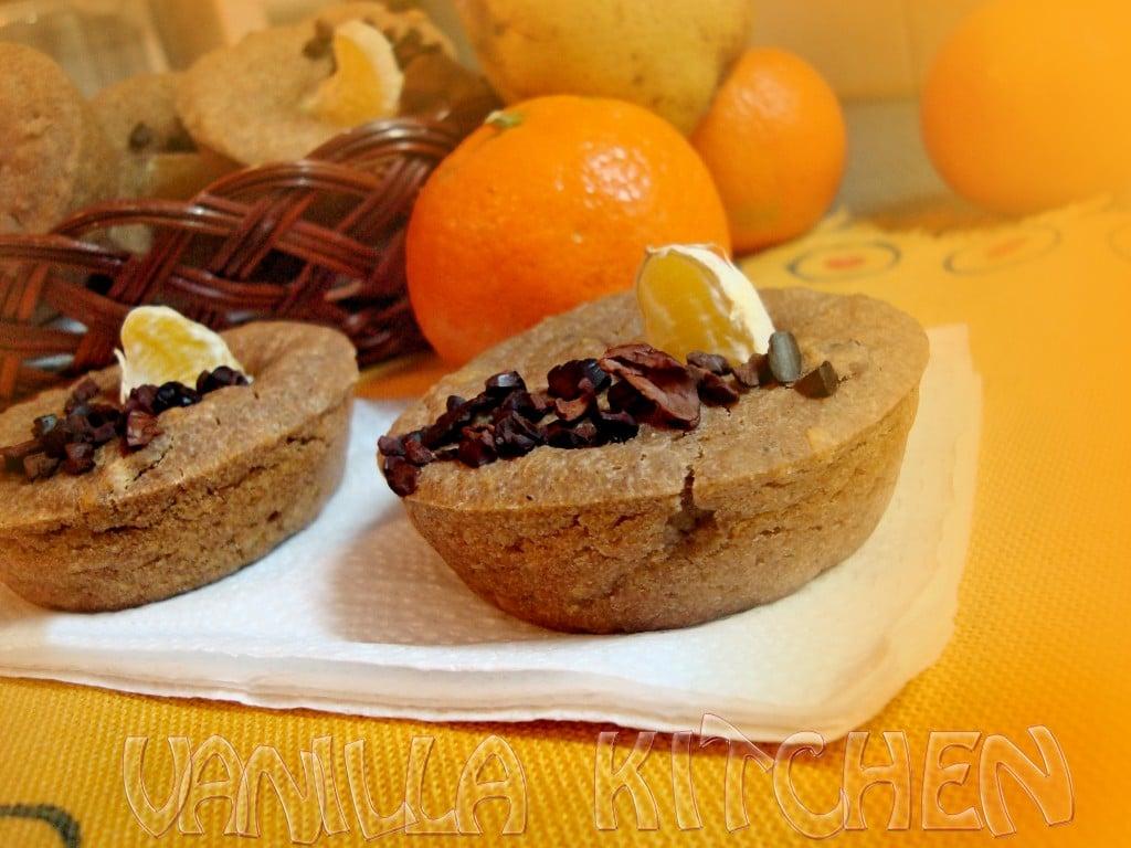 мъфини с джинджифил, мандарина и какаови зърна