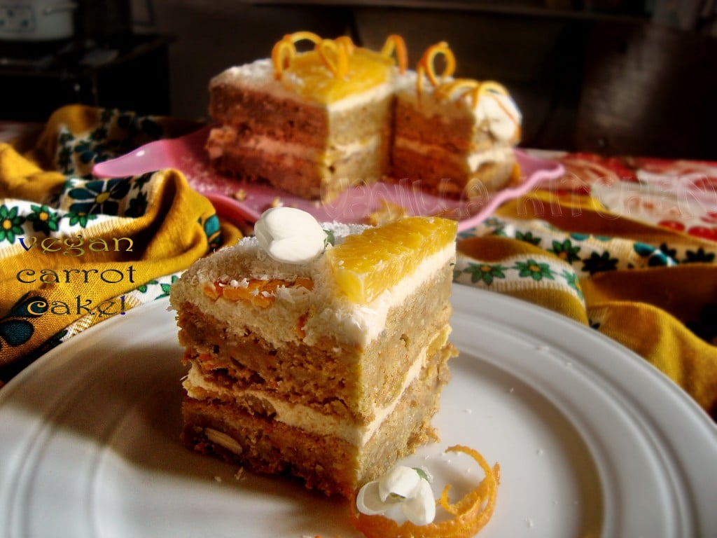Морковена торта с портокалов крем