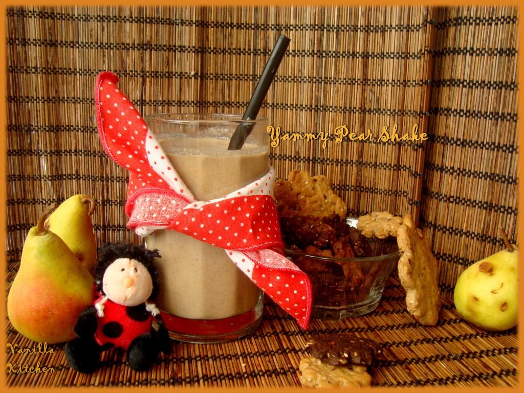 Шейк с круши и слънчогледово мляко