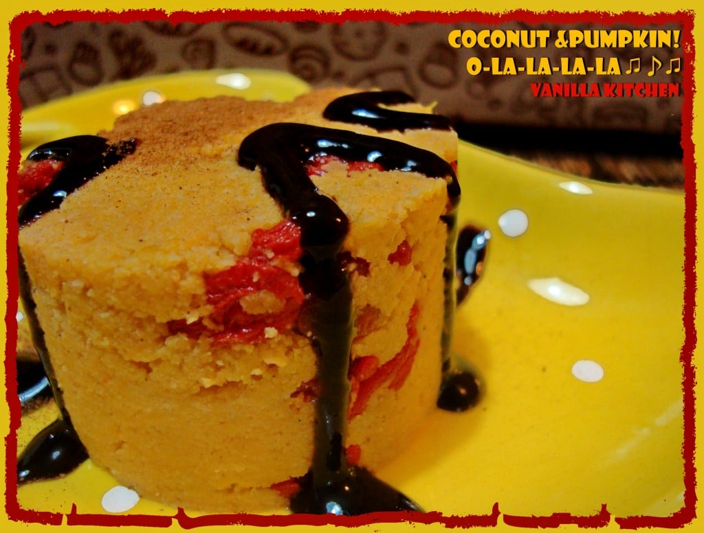 Кокосови тортички с тиква и годжи бери