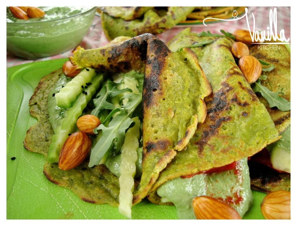Зелени веган палачинки