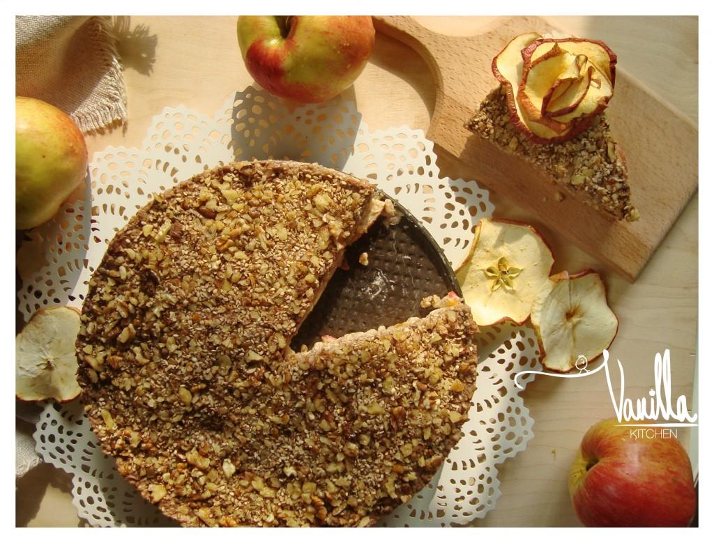 Житена торта с ябълки