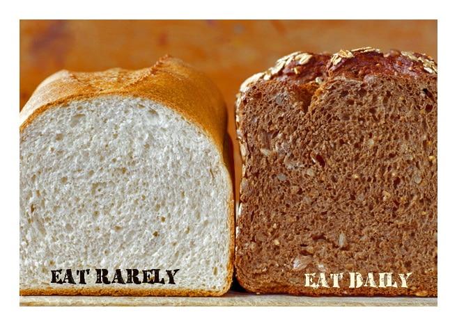 яжте бял хляб рядко, а пълнозърнест- всеки ден